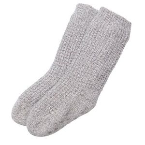 kids Indigo MINI WAFFLE-KNIT READING SOCKS